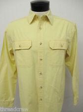 L.L. BEAN SPORTSWEAR 100% COTTON CASUAL YELLOW DRESS SHIRT S-Reg Mens L/S^5600