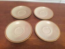 "Vintage Mikasa Nature's Song C1050 4 - 6.5"" Saucers; Great condition! (AV3)"