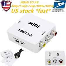 For HDTV Mini Composite 1080P HDMI to 3RCA Audio Video AV CVBS Adapter Converter