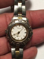 Nice Ladies Dual Tone Armitron Analog Watch With Date Feature