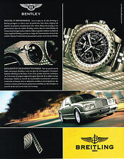 PUBLICITE ADVERTISING 045  2005  BREITLING  montre  BENTLEY 2