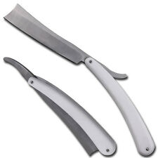 Stainless Steel Cut Throat Old Fashioned Straight Shaving Razor White