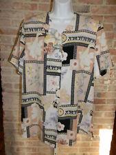 ALLISON DALEY Women's Plus Floral Short Sleeve Button Down Shirt Size 14 GUC!