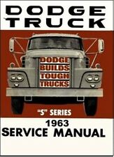Factory Shop - Service Manual for 1963 Dodge Trucks
