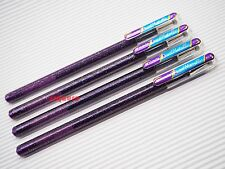 4 x 1 Pen 2 Colors (Violet / Metallic Blue) Pentel K110 Hybrid Dual Gel Pen