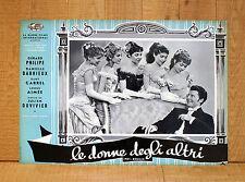 LE DONNE DEGLI ALTRI fotobusta poster Gérard Philipe Anouk Aimée Pot-Bouille