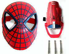 Marvel Comics SPIDERMAN MASK with WEB Missile GLOVE roleplay cosplay , Avengers