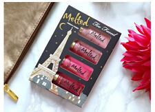 TOO FACED Melted French Kisses Liquified Lipstick 4pc Gift Set Kit X-tmas Gift
