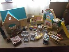 SYLVANIAN FAMILY BUNDLE HOUSE FAMILY NURSERY BUS ETC