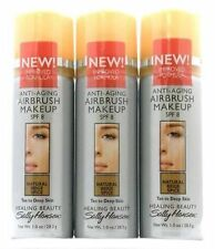 Lot of 3 Sally Hansen Anti Aging Airbrush Makeup - Natural Beige Spice