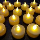 NEW FLAMELESS FLICKERING LED TEA LIGHT CANDLES BATTERY OPERATED TEALIGHTS