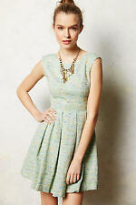 NEW ANTHROPOLOGIE $228 PAPER CROWN PARKSIDE PLEATED DRESS SZ S SMALL
