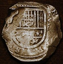 Spain Cobs Coin. 8 Reales . Hispania Philipe. ND
