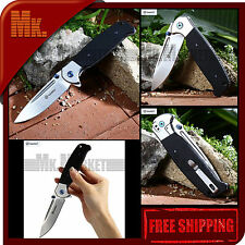 Authentic GANZO G752-2 | G7522 BK | 440C G10 + Steel Handle | Folding Knife