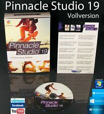 Pinnacle Studio 19 VERSIONE COMPLETA BOX + DVD video software + manuale (PDF) OVP NUOVO