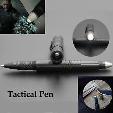 EDC PSK Grey Tactical Pen Self-defense Survival Tool With LED Flashlight AB07.2H