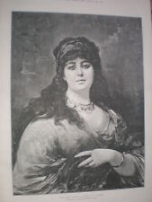 The Gipsy Queen from N Sichel 1888 old print