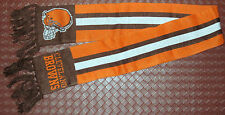 """Cleveland Browns Knit Scarf 48"""" Orange & Brown w Logo Keep Warm In The Cold"""