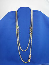 Vince Camuto Bright Gold HAUTE HEX Double Strand Long Necklace C500988 $78
