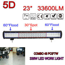 33600LM 23Inch OSRAM LED 336W 5D Combo Lamp Bar LED ATV Car Work Light Offroad