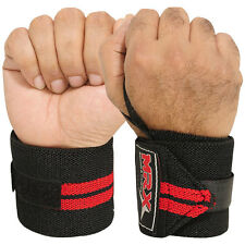 WEIGHTLIFTING TRAINING FITNESS WRIST SUPPORT COTTON WRAPS BANDAGE STRAPS RED 18""