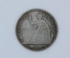 FRENCH INDOCHINA SILVER COIN 1 PIASTRE, 1904