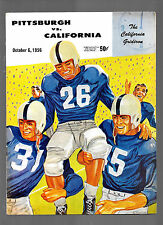 vintage 1956 PITTSBURGH Panthers at California Bears college football program