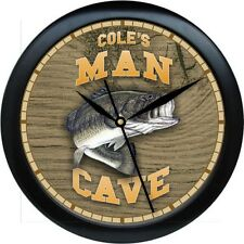 Personalized Bass Man Cave  Wall Clock Outdoorsman Gift
