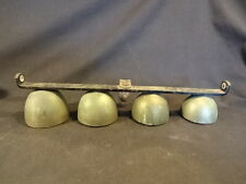 Old Vtg Antique Brass Cast Iron Ice Cream Truck Cart Ringing Bells