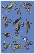 MOTORCYCLE POSTER Freestyle Motorcross FMX 24x36