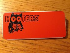 NEW HOOTERS Halloween Casino Waitress Uniform Attached Pin BLANK NAME TAG #1