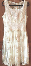 SUNDANCE CATALOG Beautiful VIEUX  CARRE  Ivory Lace Dress Size 8 Orig. $158