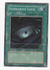 YU-GI-OH HEAVY PLAYED Schwarzes Loch Super Rare LOB