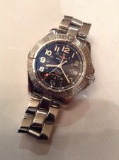 Genuine BREITLING Colt GMT 500m Stainless Steel Black Dial A32350 with Bracelet
