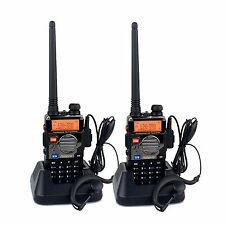 2x Retevis RT-5RV Dual Band Walkie Talkie UHF&VHF 5W 128CH Two Way Radio US Ship