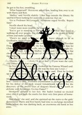 ORIGINAL - Harry Potter Art Print on 'Harry Potter' Book Page - Deathly Hallows