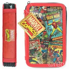 New Marvel Comic Covers 3D Filled Pencil Case Retro Iron Man Spiderman Official