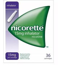 Nicorette inhalator 15mg 9 Boxes of 36 = 324 Inhalators. Great Bulk Sale Price
