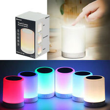 Portable Wireless Bluetooth 5W Speaker Music Player Touch LED Lamp Night Light