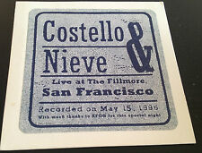Costello & Nieve Live at The Fillmore San Francisco 1996 CD WB PRO-CD-8411 4trks