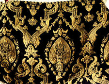 JCPENNEY KING SIZED PILLOW SHAM BLACK & GOLD Textured Gold Leaf Scroll NICE! L12