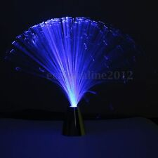 Multi Color Changing Fibre Optic Fountain Night Light Lamp Room Bar Calm Decor