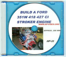 "How to Build a Ford SBF 5.0 351W/ 418 Stroker Engine. Video ""DVD"""