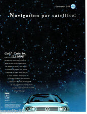 PUBLICITE ADVERTISING 096  1998  Volkswagen  la Golf Cabrio
