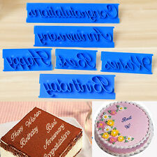 6Pcs/set  Letter Cake Icing Cutter Mould Cookie Fondant Mold Decorating Tools