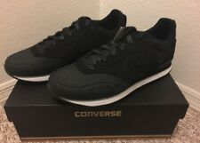CONVERSE UNISEX MALDEN RACER LACE UP RUNNING CASUAL SNEAKER SHOES BLACK SZ/ 11