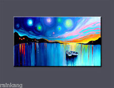 Large Modern Abstract Art Oil Painting On canvas Wall Deco,Boat(No Frame)
