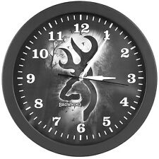 BROWNING GRAY MORNING MIST BUCKMARK WALL CLOCK
