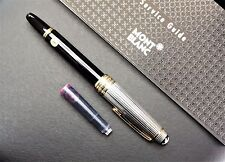 35% OFF New Montblanc 144 Solitaire Sterling Silver-White Gold Fountain Pen