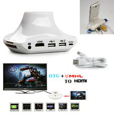 New OTG MHL to HDMI  Multi-function Charge Dock For Samsung Galaxy S4 S3 Note 2